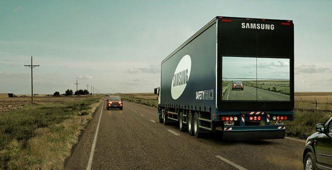 Samsung придумала безопасный способ обгона грузовиков