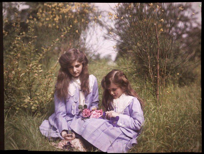 первые цветные фото