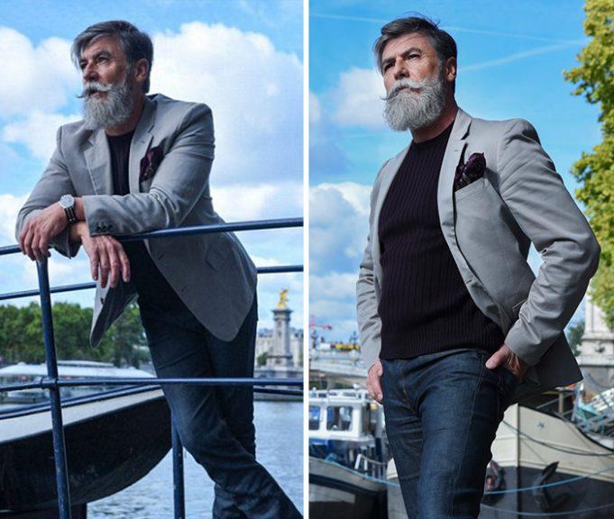 60-летний мужчина становится моделью, после того как отпускает усы и бороду