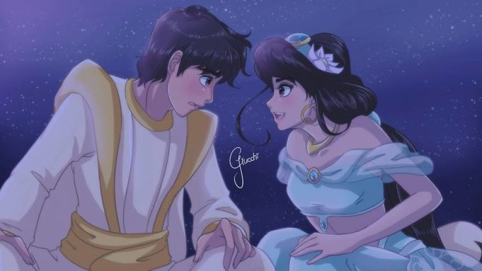 диснеевские принцессы в стиле аниме