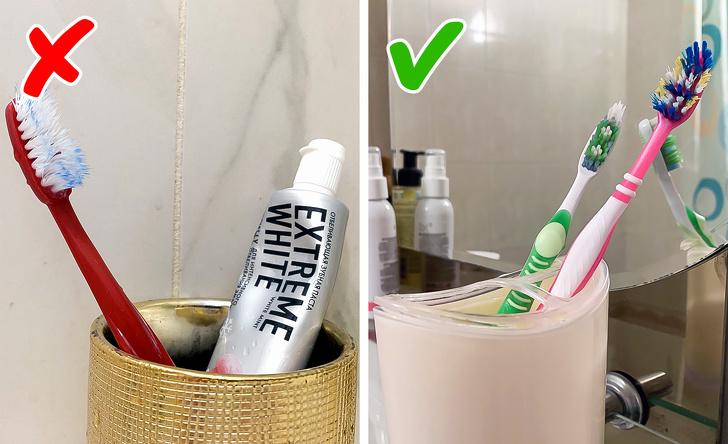 4. Почему у зубных щеток цветные щетинки?