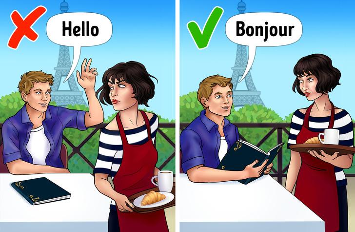 6. Есть лишь несколько мест, где люди говорят по-английски.