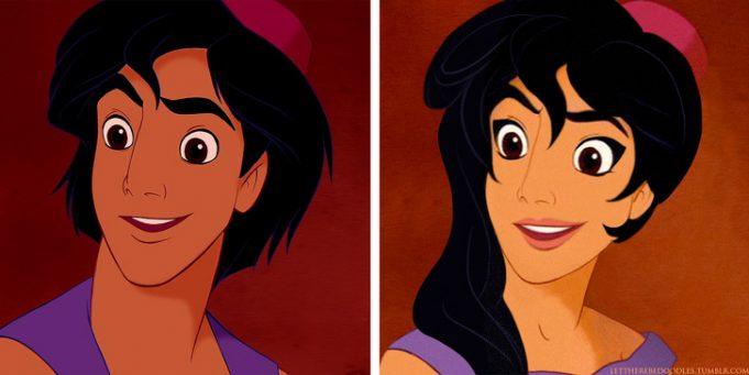 Как бы выглядели 14 наших любимых персонажей Диснея, если бы они были противоположного пола
