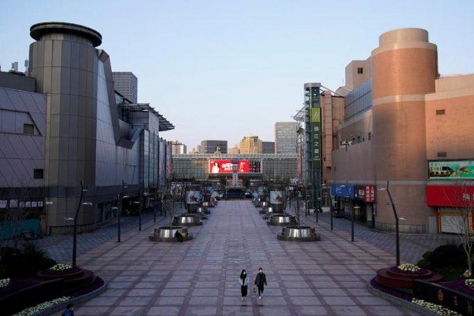 Пустые улицы Китая на фоне коронавирусных страхов