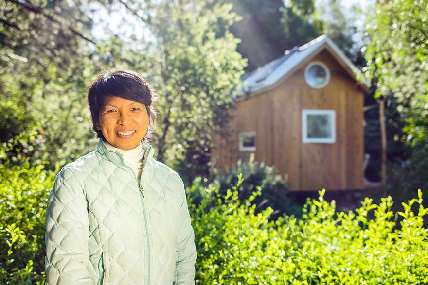 18. Вина и ее маленький домик в Калифорнии.