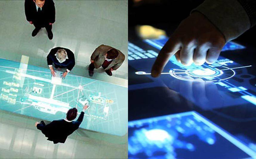 8. В фильме «Квант милосердия» используется специальный стол с сенсорным интерфейсом, на котором члены MI6 просматривали информацию о Доминике Грине. Microsoft и Samsung выпустили интерактивную панель под названием Microsoft Pixelsense. Все управление происходит с использованием пальцев рук.