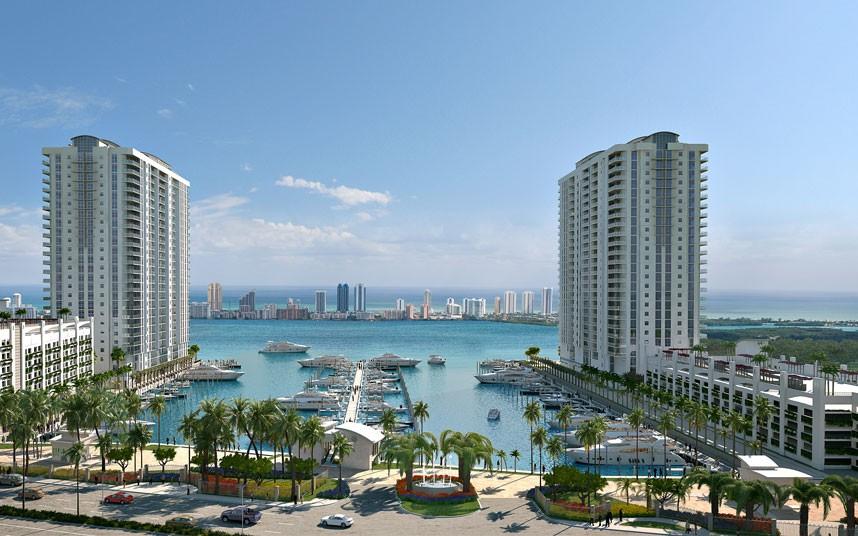 1. Майами, Флорида, США. Ковый комплекс Marina Palms включает в себя 469 роскошных двух и трехкомнатных квартир. Два дома расположены на набережной Майами. Жильцам доступен бассейн, теннисный корт и яхт-клуб. Цена квартиры – почти 45 миллионов рублей.