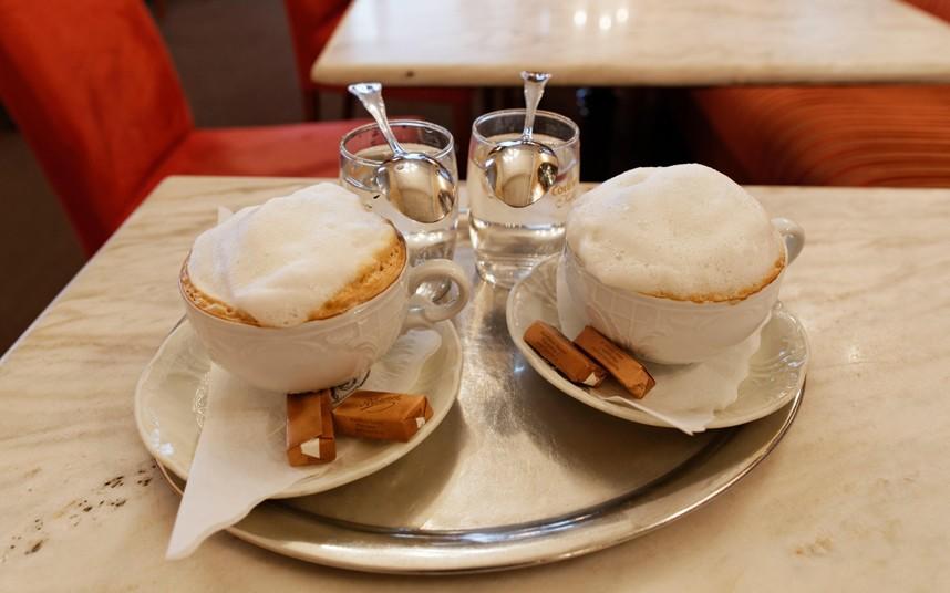 12. Нет ничего лучше, чем посидеть в австрийской кофейне за чашечкой капучино с огромным количеством молочной пены.