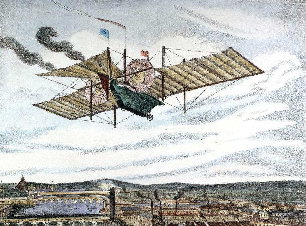 1. «Ариэль», воздушный паровой экипаж Хенсона, 1841 год.