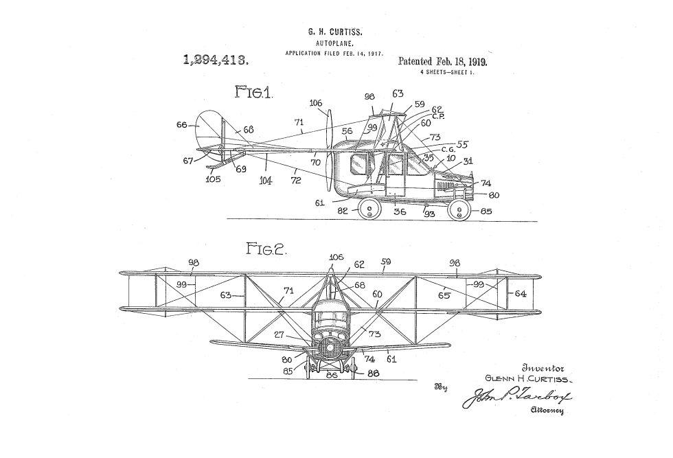2. Автоплан Кертиса, 1917 год.