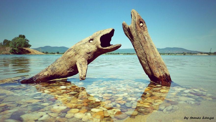 2. Деревянные рыбы.