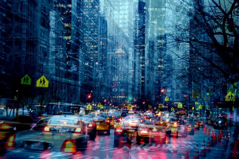 1. Автомобильная пробка, Нью-Йорк.