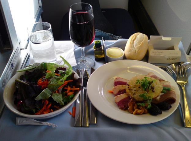 18. British Airways - перекус в первом классе.