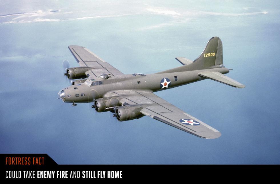 7. Боинг Б-17 «Летающая крепость».