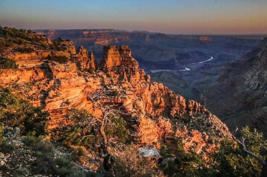 5. «Мы увидели прекрасные горы Гранд Каньона».
