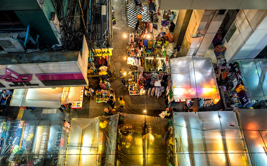 2. Ночной маркет, Таиланд.