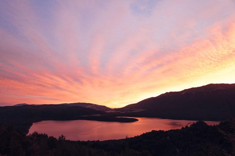2. Озеро Ротойти, национальный парк «Нельсон Лейкс».