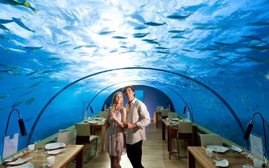 1. Ресторан Ithaa Undersea, Мальдивские острова.