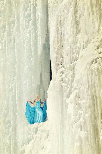 9. Фотосессия в ледяной пещере штата Нью-Гемпшир.