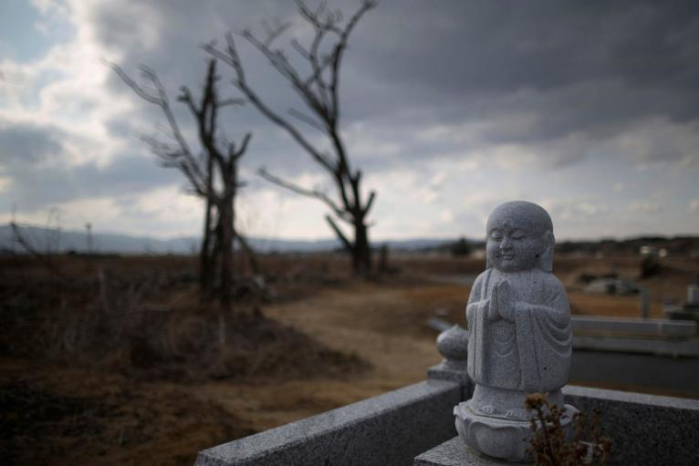 1. Кладбище внутри зоны отчуждения, рядом с АЭС Фукусима.