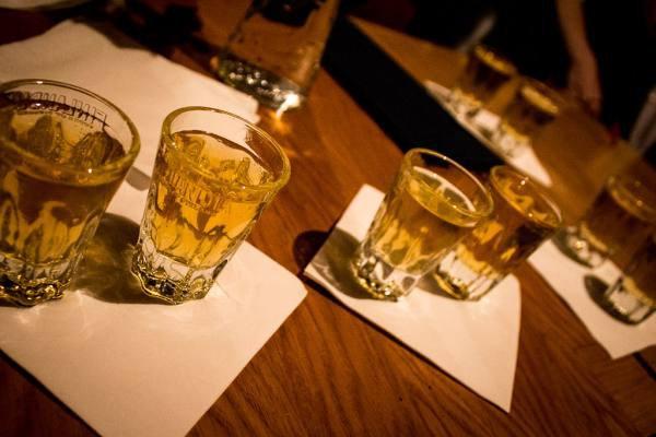 20. Один шот в баре в Польше.