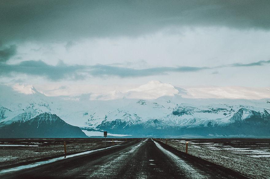 11. Заснеженные вершины Исландии.