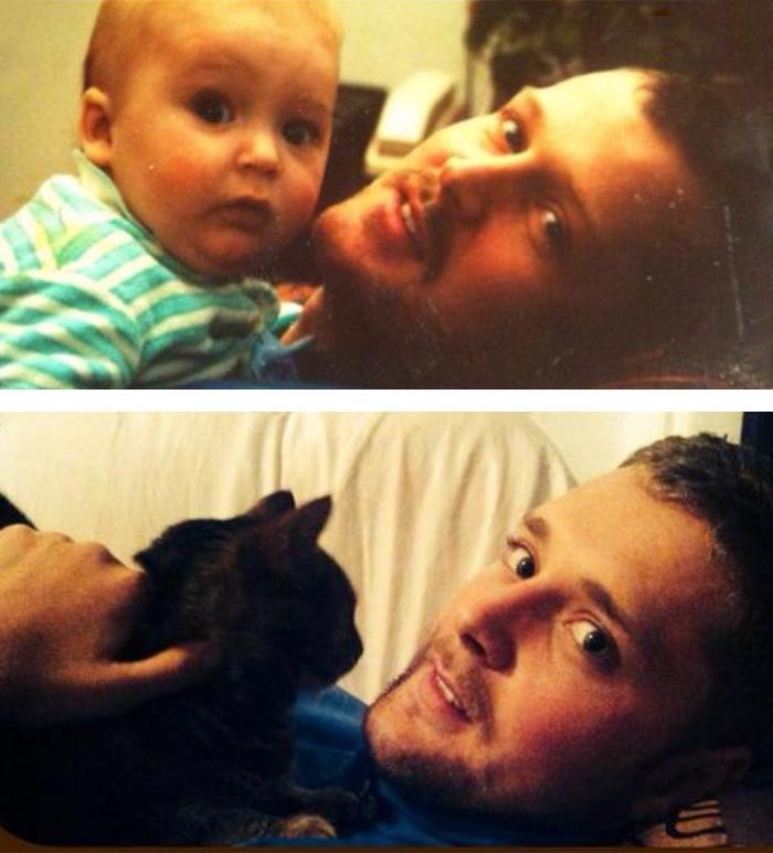 12. Отец в 1991 и сын в 2013 году.