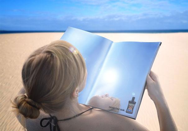 16. Рекламное агентство: Серый, Стокгольм, Швеция. Поверхность листа полностью зеркальная.