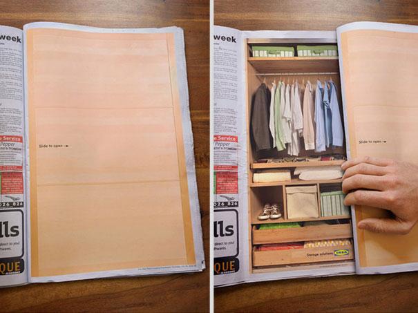 19. Ikea: реклама шкафа-купе. Рекламное агентство: 303, Перт, Австралия.