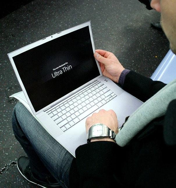 7. Реклама Macboook Pro от агентства Ultra Thin, Нью-Йорк, США.
