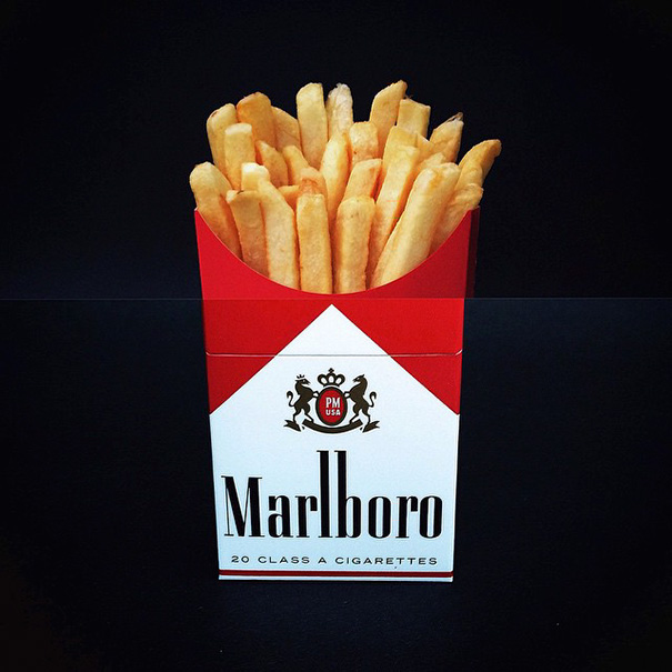 11. Картофель фри и сигареты.
