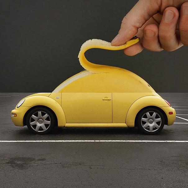 3. Банан и автомобиль.