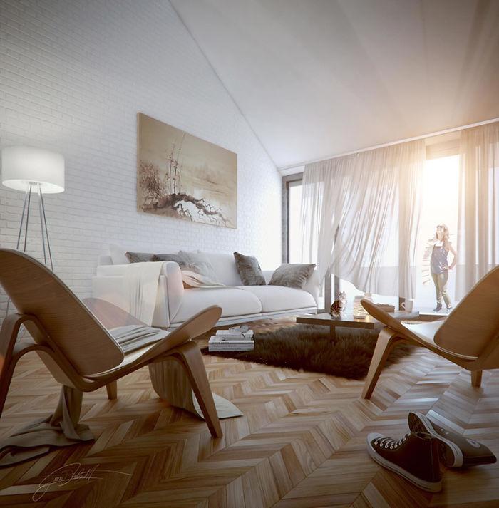 15. Атмосферне кімната від Хуана Дельгадо. Дуже симпатичні крісла.
