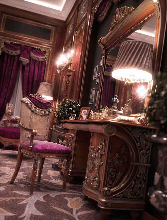 3. Королівський інтер'єр Walid Layouni. Дійсно королівська спальня.