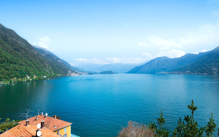 1. Озеро Комо, Италия.