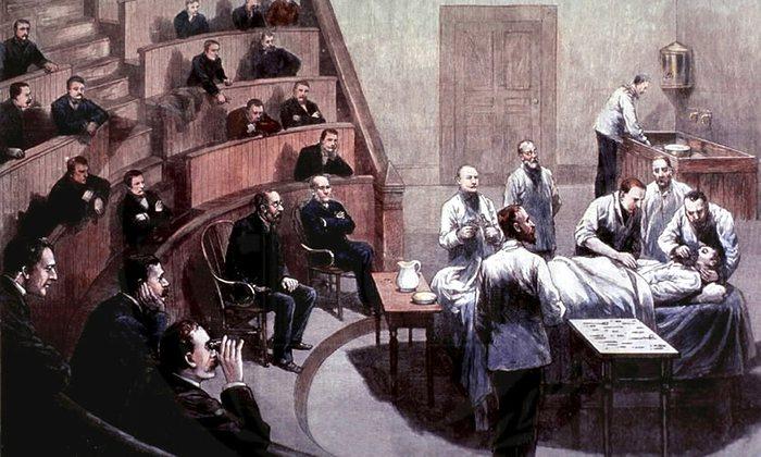 7. Первая публичная демонстрация эфирного наркоза. Бостон, 1846 год.