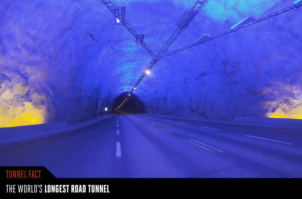 10. Лердальский тоннель, Норвегия.