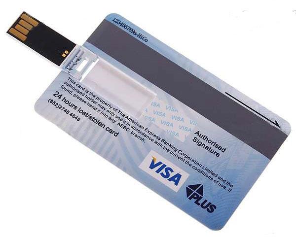 4. Флешка-визитка или кредитная карта.
