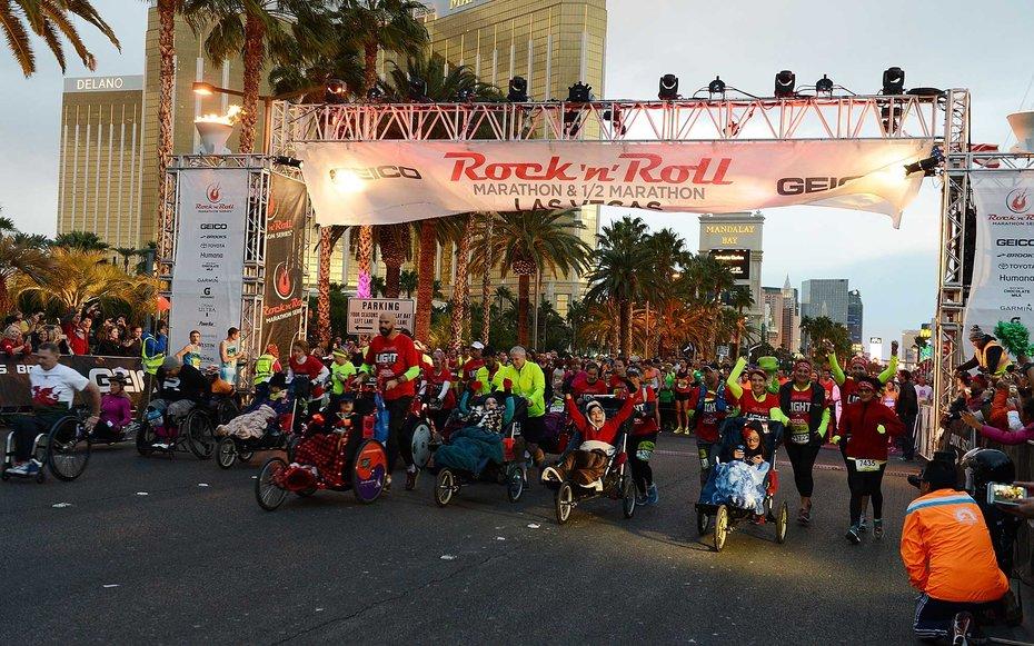 2. Рок-н-ролл марафон в Лас-Вегасе.