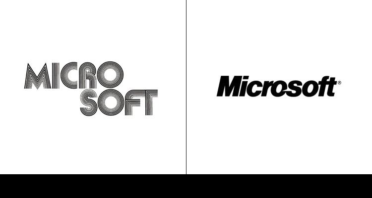 14. Первый логотип компании Microsoft был создан в 1975 г. Текущая версия появилась в 2011 году.