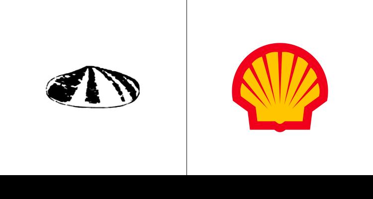 4. Первый логотип Shell был разработан в 1900 году. В последствии компания переработала логотип, сделав его более узнаваемым.