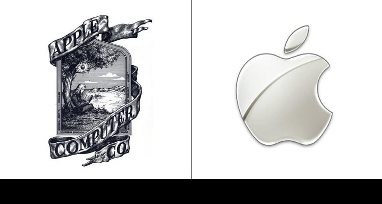 5. Первый логотип компании Apple впервые был разработан в 1976 году Рональдом Уэйном. На логотипе изображен Ньютон и то самое яблоко.