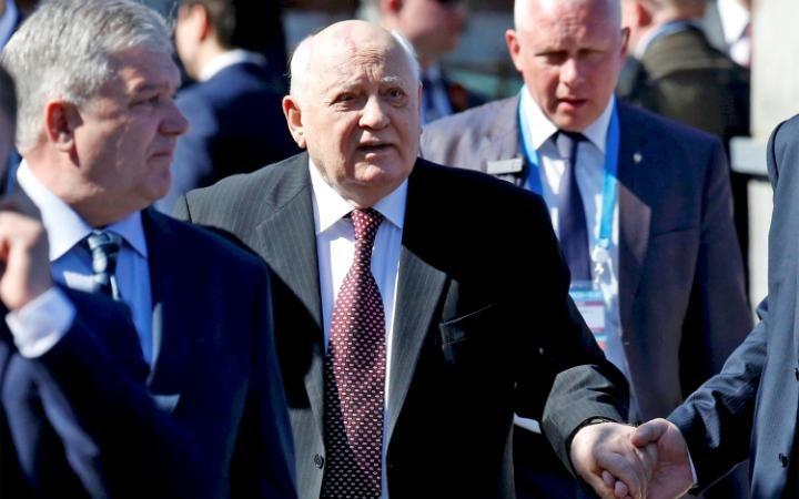 10. Парад также посетил Михаил Горбачев.