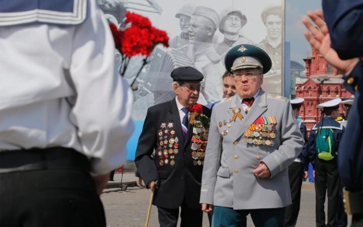 20. Ветераны Великой Отечественной Войны прошлись по Красной площади.