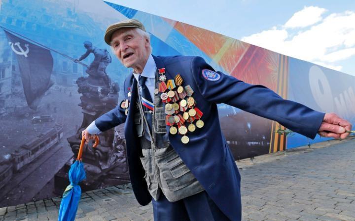26. И конечно главными героями парады были ветераны.