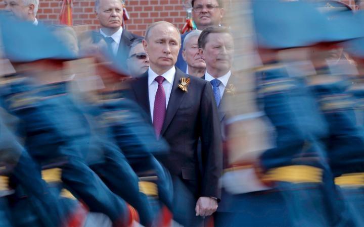 9. Президент России Владимир Путин открыл Парад Победы.