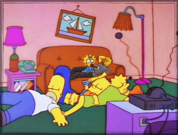 10. В сериале «Симпсоны»...
