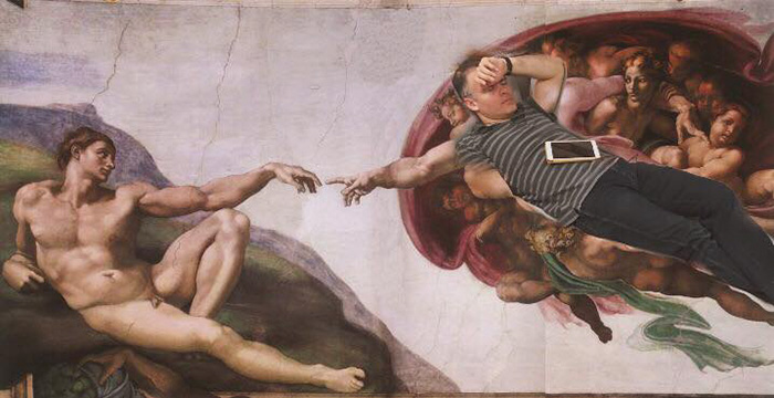 16. «Сотворение Адама» во сне.