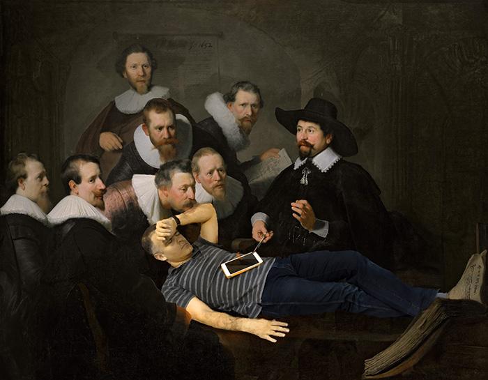 7. Вот он на картине Рембранта…