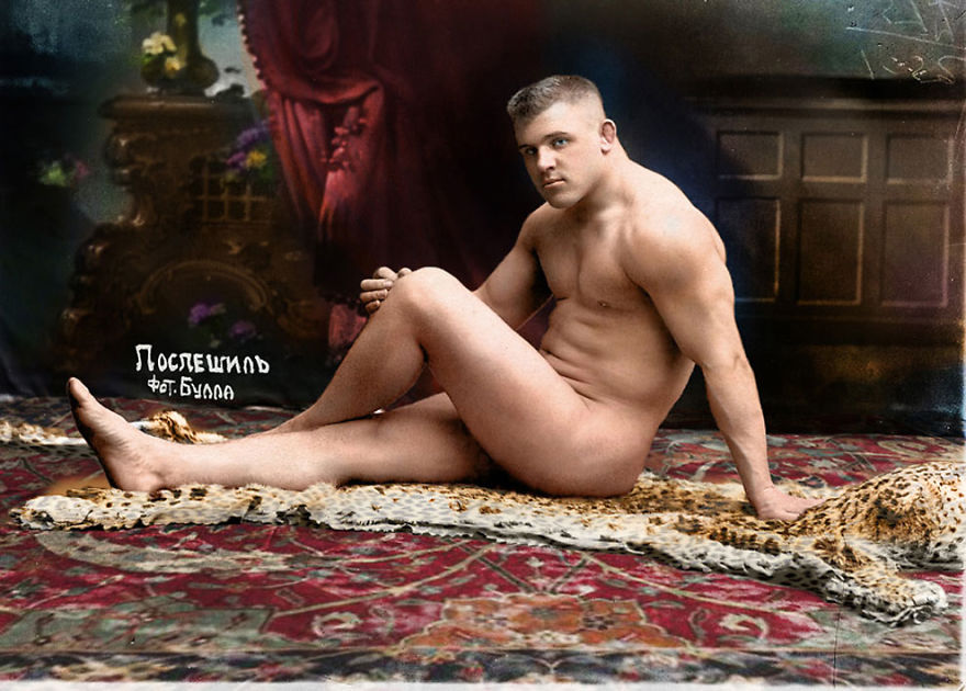 19. Борец Карл Поспешил, 1912 год.